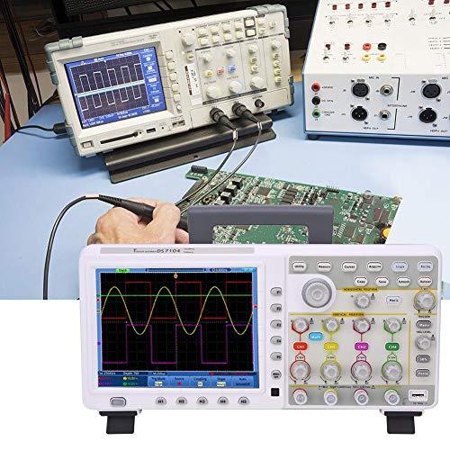 Digitales Touch-Control-Oszilloskop, 4-Kanal-TDS8204, 200 MHz Bandbreite, 2 GSa/s, 8-Zoll-LCD-Oszilloskop für Wartungstests von elektronischen Schaltkreisen und Fahrzeugen(EU)