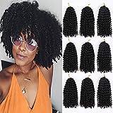 9 bundles/lot Marlybob Synthetic Crochet Braiding Hair curly Crochet Hair Braids Kinky Curl Hair Bundles for Women(1B#)