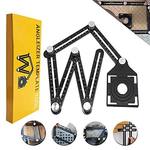 Foratura localizzatore, Angleizer template Tool aluminum alloy Jig foro bit carpenteria drill guide localizzatore regolabile Jig perforazione strumento per falegnami, hobbisti, costruttori