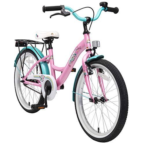 BIKESTAR Kinderfahrrad für Mädchen ab 6 Jahre | 20 Zoll Kinderrad Classic | Fahrrad für Kinder Pink | Risikofrei Testen