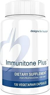 Designs for Health Herbal Immune Support Formula with Echinacea, Astragalus, Elderberry + Andrographus - Immunitone Plus (120 Capsules)