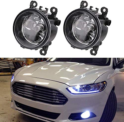 Fog Light Lamp Replacement for 2012-2014 Ford Focus Front Driver & Passenger Side Fog Bumper LED Lamp Assembly w/ 55W H11 Halogen Bulbs Bracket Wiring Harness Kit - Replace 4F9Z-15200-AA, 88358
