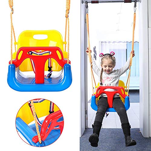 Babyschommelzitje en touw 3 in 1 tuinschommelzitje met rugleuning Geweldig cadeau voor baby-kinderen Peuters Buitenspelen