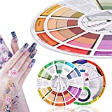 Círculo cromático de colores: rueda de colores, guía de bolsillo para la mezcla de colores, suministros de tarjetas de papel con rueda de colores, 23,5 cm