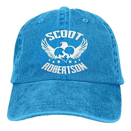 Scoot Robertson Eagle Heart Denim Dad Cap Gorra de béisbol Ajustable Sun Cap