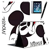 ipad 第7世代 2019 10.2インチ ケース ディズニー ミッキーマウス ミニーマウス PU レザー オートスリープ/ウェイク スタンド機能付き 手帳 CASE COVER きれい オシャレ かわいい タブレット 保護カバー MLS (10.2インチ, mls-9-1)