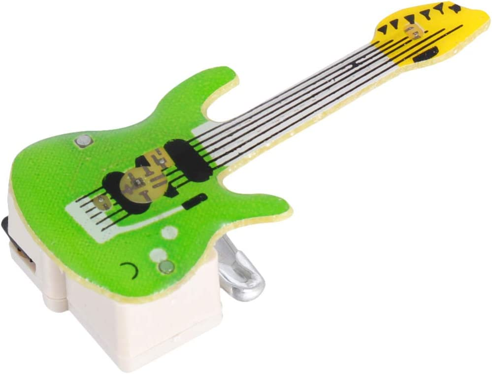 TOYANDONA 25pcs Guitar Large discharge sale Flashing Light Brooc Pins Christmas Lapel Max 54% OFF