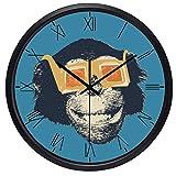 壁掛け時計 置き時計 掛け時計 おしゃれ 連続秒針 面白い映画スターゴリラ動物の壁時計現代の愛の家 耐久性丈夫 無騒音静音 防塵 インテリアおしゃれ 部屋装飾 プレゼント は部屋、教室、ベッドルーム、バスルーム、リビング、オフィスに最適です