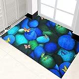 Interior Al Aire Libre Entrada Felpudo,Cuttable Piedra De Guijarros 3D Mármol Impresión De Rosas Alfombra Para Cocina Baño No-resbalón Absorbente,47 X 98 Pulgadas Absorbente Tapete-Mariposa 120*250cm