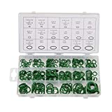 BUSY-CORNER Oring Kit 270 Pieces 18 Sizes SAE Inch Car Air Conditioning A/C O Ring Seals Rubber O-Rings Green