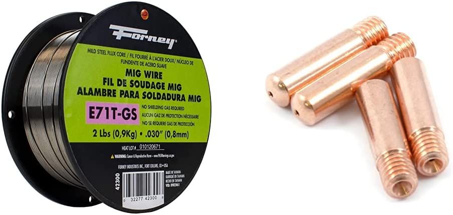 Forney 42300 San Antonio Mall Flux Core Mig Wire Mild Steel NEW before selling E71TGS.030-Diameter