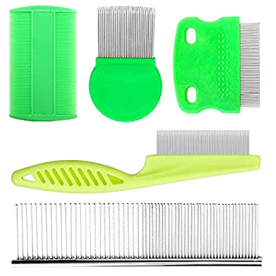DSSPORT Tear Stain Remover Grooming Pet Combs For Cats Dogs Fine Tooth Stainless Steel Hair Comb from DSSPORT