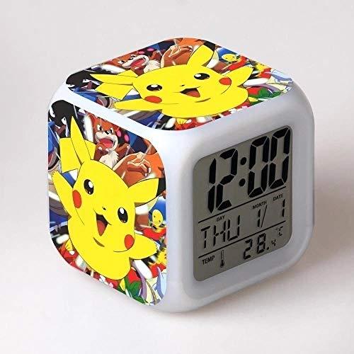 Mrs-jtt Réveil numérique pour Enfant garçon 15% Motif Pokémon Pikachu