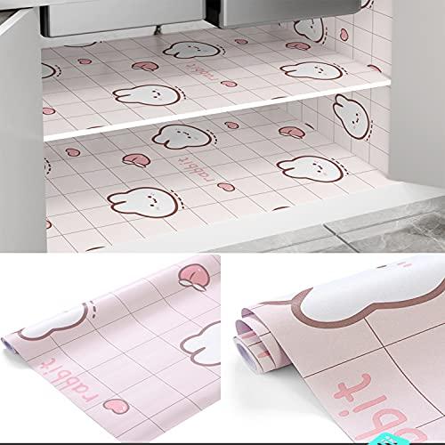 TINGCHAO Revestimiento para estantes Imágenes de Dibujos Animados Autoadhesivas Se Pueden Cortar Tapetes para cajones para refrigerador Armario de Cocina Armario Zapatero,A,60x500cm