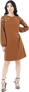 Pantora womens LS Grommet Dress Dress