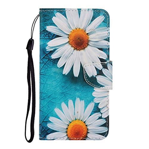 Sunrive Kompatibel mit Xiaomi Redmi K30 Pro/Poco F2 Pro Hülle,Magnetisch Schaltfläche Ledertasche Schutzhülle Etui Leder Hülle Cover Handyhülle Tasche Schalen Lederhülle MEHRWEG(Q1 Chrysantheme)