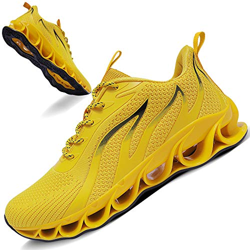 TIAMOU Men Gym Sport Running Walking Shoes
