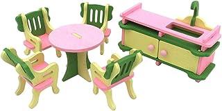 TOYMYTOY Conjunto Muebles de Casa de Muñecas en Miniatura de Madera para Niños (Cocina)