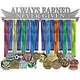 VICTORY HANGERS Perchas para medallas motivadoras de 17.72 Pulgadas, Always Earned Never Given