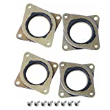 iHaospace 4 Pack NEMA 17 Stepper Steel and Rubber Vibration Dampers with M3 Screw for 3D Printer CNC