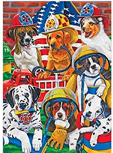 Wooden Jigsaw Puzzle 1000 Pieces,cartoon Puppy Fireman Diy Kit Wooden Puzzle Modern Home Decor Boys Girls Unique Gift Stress Reliever Unique Gift Stress Reliever