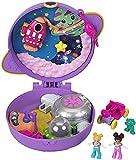 Polly Pocket Coffret Univers L'Exploration de Saturne, mini-figurines Polly et Shani, accessoires et autocollants inclus, jouet pour enfant, GKJ51
