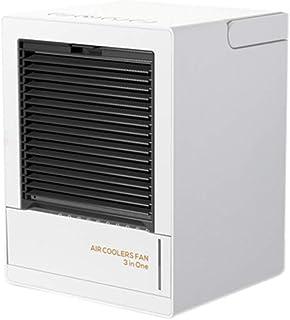 AILTAL Enfriador de Aire, Luces coloreadas portátil de Aire Acondicionado para Oficina Refrigeración Dispositivo,Blanco