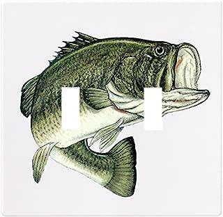Largemouth Bass Fish Wallplate Decorative Light Switch Plate Cover (2 Gang -