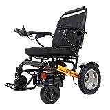 BDFA Plegable Silla de Ruedas eléctrica compacta Deluxe Potente Doble Motor Movilidad Silla de Ruedas eléctrica Auxilios - Pesa sólo 50 Libras con la batería