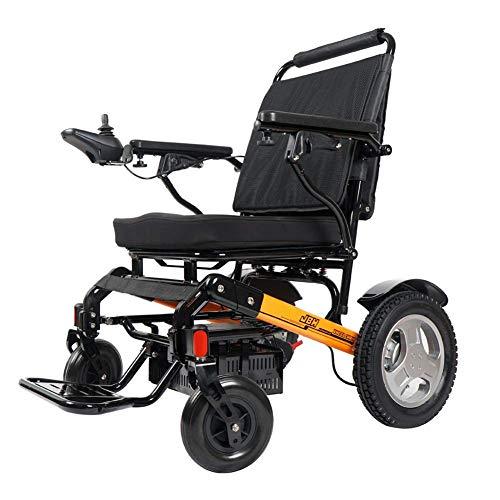 BDFA Pieghevole Sedia a rotelle elettrica Compact Deluxe Potente Motore Doppio Mobility Aid Chair di Alimentazione - Pesa Solo 50 libbre con Batteria