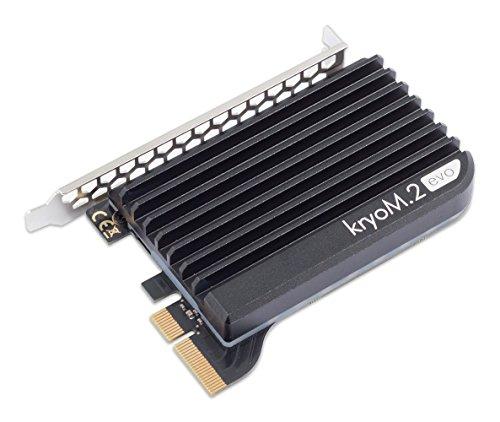 AquacomputerkryoM.2evoPCIe3.0x4adapterforM.2NGFFPCIeSSD,M-Keywithpassiveheatsink