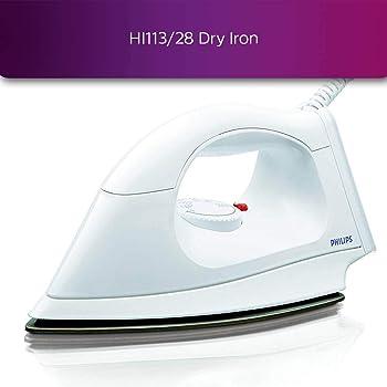Philips HI113 1000-Watt Plastic Body PTFE Coating Dry Iron