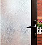 Película opaca para ventanas de privacidad, película autoadhesiva para puertas de vidrio, color de ventana de ajuste estático, etiqueta de ventana de vidrio anti-ultravioleta extraíble A35 30x200cm