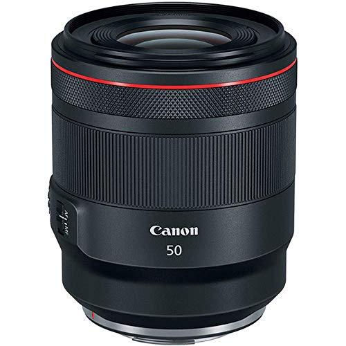 Canon Objektiv RF 50mm F1.2L USM für EOS R (Festbrennweite, 77mm Filtergewinde, Autofokus, Lichtstark) schwarz