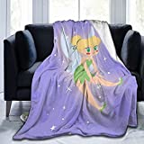 Tinker-Bell Baby Blanket Plush Throw Ultra Soft Premium Fluffy Flannel All Season Light Weight Sofa Couch Throw Living Room/Bedroom Warm Blanket 50'X40'