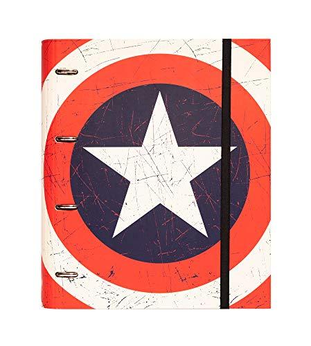 Grupo Erik CARP1636 Raccoglitore ad anelli  Marvel Captain America Shield