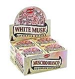 Muschio bianco - Caso di 12 scatole, 10 coni ciascuno - HEM incenso dall'India