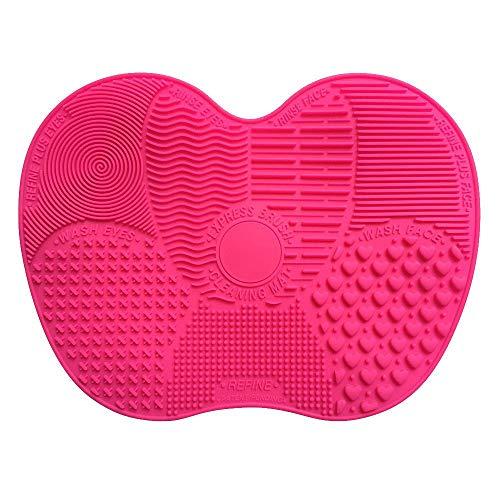 LANGING Siliconen Scrubbing Pad Handschoenen Make-up Penseel Reinigingsmat Met 7 Afzonderlijke Sucker Effen Adsorptie