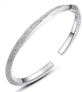 999 Sterling Silver Bracelets for Women Girls Nail Sand...