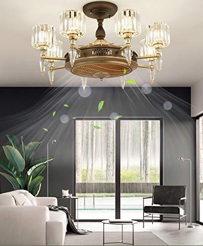 Luz de Ventilador Aniónico, Ventilador de Techo con luz Creativa Invisible Silencioso LED Ventilador Luz de Techo Sala de Estar Dormitorio Moderno Luz de Techo, E27 * 6,8 heads