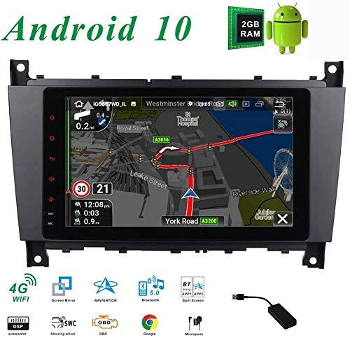 Car Stereo Doble DIN Unidad Principal para Mercedes-Benz Clase C W203 CLK W209 GPS de Pantalla táctil Multimedia Radio Receptor de navegación por satélite carplay DSP RDS Dab