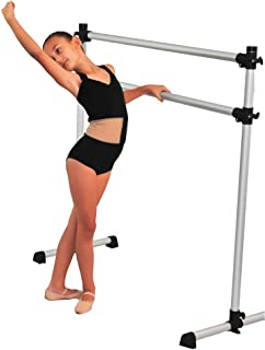 Portable Double Freestanding 4 foot Ballet Barre, Stretch/Dance Bar, 4 Feet Fitness Barre