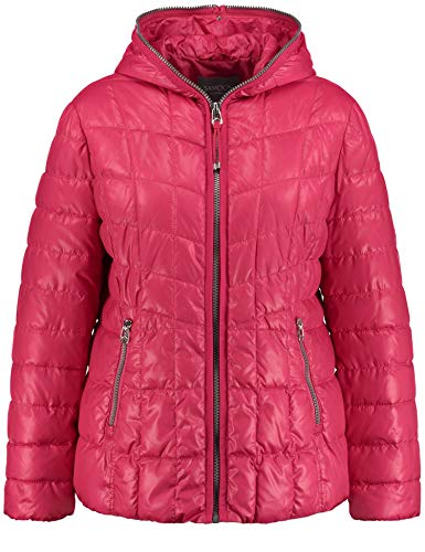 Samoon Damen Outdoorjacke Nicht Wolle Jacke, Rosa (Pink Lipstick 30811), 46