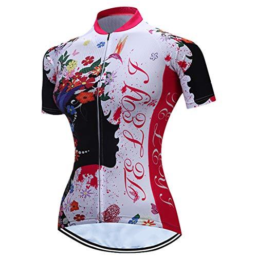 Maillot de ciclismo para mujer, camiseta deportiva de ciclismo MTB callejero, blusa...