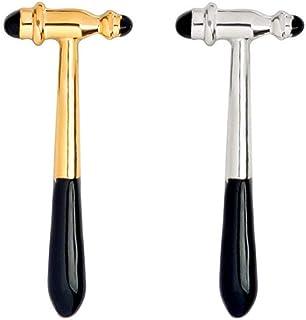 Charmart Reflex Hammer Lapel Pin 2 Piece Set Medical Instruments Enamel Brooch Pins Doctor Nurse Medical Students Graduation Gifts