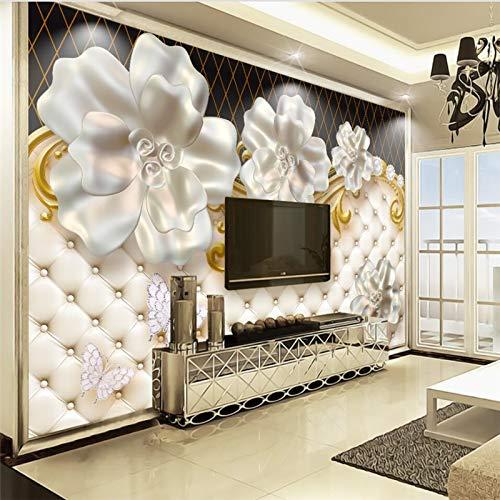 WOONN 3D Stereo Sieraden Bloem High end Luxe Koffer TV Achtergrond Muur Aangepaste Grote Schaal Fresco 3