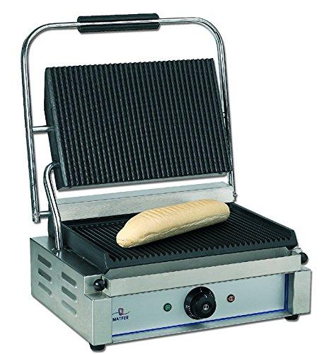 Bistecchiera/panini Ecoline professionale 2200W–MATFER