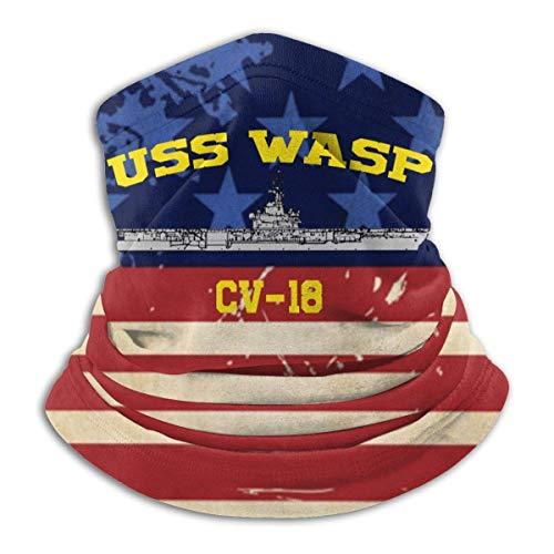 N/A Tubolare,Copricollo,Passamontagna Bandana con Fascia Scaldacollo per Sport all'Aria Aperta USS Wasp Cv-18