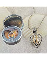 Love gift set natural pearl oyster (freshwater pearl) with silver necklace to put the pearl love it