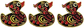 Hohloma Duck Patch Embroidery Applique Embroidered Pattern Iron on sew on